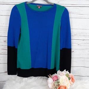 Vince Camuto color block sweater small petite